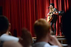 """Sawyer Fredericks, winner of NBC's """"The Voice"""" and a Glen native, performed a surprise show at the Fonda-Fultonville High School on Wednesday, June 10, 2015."""