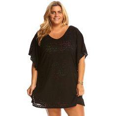 2d526d74f1 Dotti Plus Geo Muse Flutter Cover Up Black Beachwear Fashion, Beachwear For  Women, Sleeve