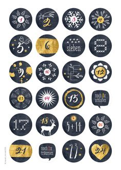 ** 24 advent calendar numbers SCHWARZGOLD Potpourri (simulated) ** 40 mm diameter, sticker The gold Christmas Countdown, Christmas Holidays, Christmas Crafts, Christmas Decorations, Advent Calenders, Diy Advent Calendar, Potpourri, Calendar Numbers, Cute Calendar