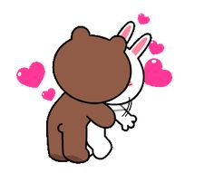 The perfect Brown Cony Line Animated GIF for your conversation. Discover and Share the best GIFs on Tenor. Cute Couple Cartoon, Cute Couple Art, Cute Love Cartoons, Love You Gif, Cute Love Gif, I Love You Hubby, Gif Lindos, Romantic Kiss Gif, Cony Brown