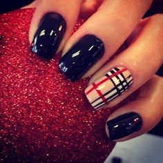 #burberry inspired nails!