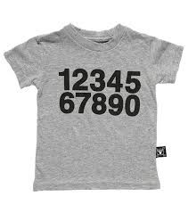 2015 Nununu Shirts Cotton Short Sleeve Numbers Print Baby Boys Girls T shirt Children's Clothing Kids Summer Style Clothes YA133