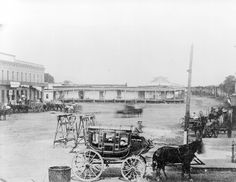 (Article on violence in early L.A.. Photo of Old Chinatown, Los Angeles, which was the scene of Chinese riots of 1871.)