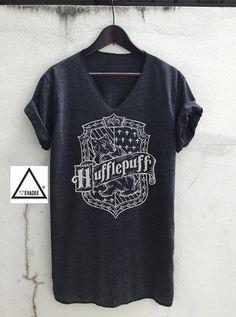 Hufflepuff Harry Potter V neck T-Shirts Vintage Unisex by VevaDee