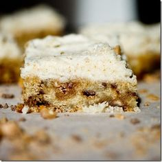 Heath Bar Blondies with Brown Butter Frosting