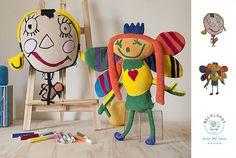 Somos os Bololofos, bonecos de pano feitos a partir de desenhos de crianças. Graziella Poffo e Udi Poffo #brinquedos #bonecos #criancas #desenhos #desenhoinfantil #handmade