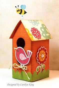 embellished birdhouse