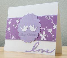 Cricut Anniversary card with doves from Joys of the Season