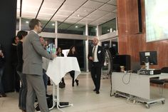 Patrick Swientek und Benedikt Schaumann mit Gästen