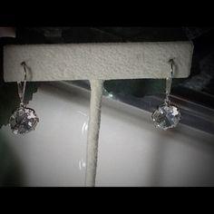 4ctw Rose cut Diamonique Dangle Earrings These gorgeous 4ctw diamonique stones set on 925 Sterling Silver. Diamonique Jewelry Earrings