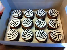 volleyball cupcakes!! i need to make these!!!