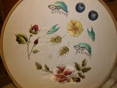 My sampler using Trish Burr's book 'Needle Painting Embroidery',