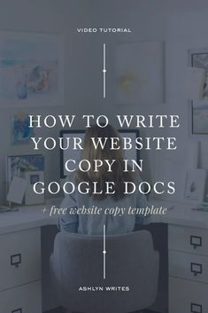 Mega Post: How to Write Your Website Copy in Google Docs (+ Free Website Copy Template!) | Blog from Ashlyn Carter | Launch Expert & Copywriter for Creatives Branding Your Business, Personal Branding, Creative Business, Business Tips, Online Business, Business Education, Website Design Inspiration, Content Marketing, Online Marketing