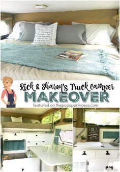 I'm amazed at how cozy this pickup truck camper turned out.  It makes me want to cuddle up with a good book and enjoy the view of the outdoors.