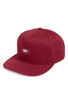 Men s Obey  Worldwide  Twill Snapback Cap - Red 9a626247a57