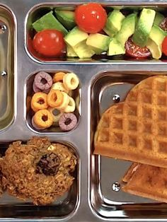 Waffle hearts school lunch recipe with fresh fruits and veggies. healthy school lunches, back School Lunch Recipes, Kids Lunch For School, Healthy School Lunches, School Ideas, Waffle Recipes, Fruit Recipes, Baby Food Recipes, Toddler Recipes, Family Recipes