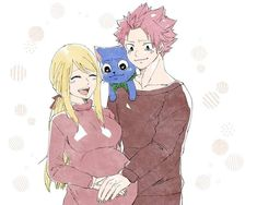 Aww natsu and happy are crying Fairy Tail Kids, Fairy Tail Family, Fairy Tail Love, Fairy Tail Couples, Lucy Fairy, Fairy Tail Natsu And Lucy, Fairy Tail Nalu, Tracer Cosplay, Nalu Comics