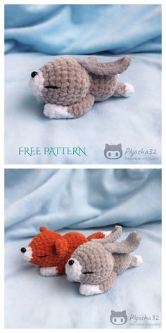 Easter Amigurumi Lazy Bunny Free Crochet Patterns - DIY Magazine