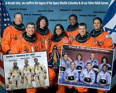 Apollo 1 Challenger Columbia | ... Shuttle Program, Columbia, Challenger, Apollo 1, astronauts, NASA