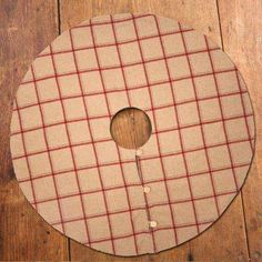 Tan And Red Flannel Tree Skirt