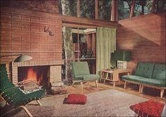 1951 living room interior design.