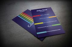 Stylish colorful business card PSD template, suitable for any kind of business. This template is available for free download as Adobe Photoshop (PSD) file.