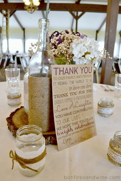 Table thank-you card from the bride & groom. It gets very hectic & hard to personally thank everyone!!