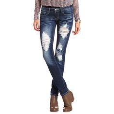 Machine Jeans Destroyed Denim Skinny Jean