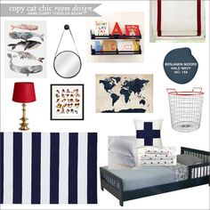 Anne Curry Toddler Room | Copy Cat Chic Room Designs | A navy toddler's room for $1,100