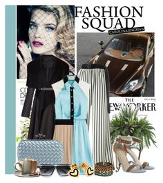 """Fashion Squad!"" by flippintickledinc ❤ liked on Polyvore featuring BB Dakota, BCBGMAXAZRIA, Jean-Paul Gaultier, FAUSTO PUGLISI, GUESS, Bottega Veneta, The Cambridge Satchel Company, PLANT, Hillier London and DANNIJO"
