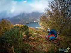 Photo of Ed Oxley in San Sebastian, Spain. Riding El Cerro, a trail I built last winter but haven´t had a chance to show to Ed until now. Freeride Mountain Bike, Mountain Biking, Mtb, Bike Photography, Trail, Coast, Country Roads, Mountains, World