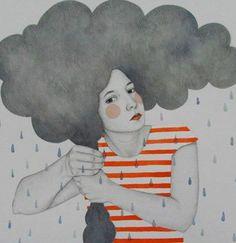 E poi ci sono quelle tempeste emotive che t'impazzano fra cervello e cuore, sballottandoti tra onde di sentimenti contrastanti. Sei una barca in balia delle tue emozioni e non puoi far altro che aspettare la bonaccia, cercando di non affondare, anche questa volta. Eleonora Della Gatta © ill. by Sofia Bonati