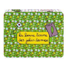Boite-a-tisane-jolies-dames 16,90€ #filf #flower