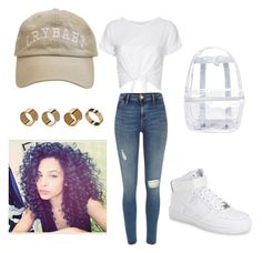 """"""""""" by lexxxooo on Polyvore featuring NIKE, River Island, Topshop and Warehouse"""