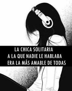 La chica solitaria