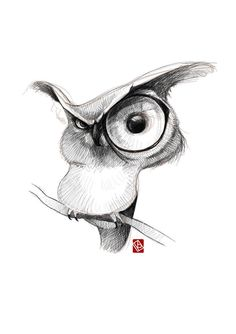 Sketchy animals on behance jewelry in 2019 bocetos de animales, buho dibujo Pencil Art Drawings, Cartoon Drawings, Cartoon Art, Cute Drawings, Drawing Sketches, Drawing Cartoon Animals, Cute Owl Drawing, Tattoo Sketches, Animal Sketches