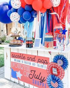•Tuesday• round dos of the stand? This year we did a #4thofjuly theme with #sodapop #sparklers #applepie #cookies and of course #lemonade The wind wasnt on our side let me tell you so getting a picture was touch and go. Swipe to see some deets! Also check out my stories for a #tiktok of the stand though the years! Thanks to my girl kelseyklos for designing the sign and stayinghomesawyer for the felt stars we love them! 🙌🏽🙌🏽🙌🏽 Also to bring you more joy, Summertime Pop Up Stand Loop… Michael Store, Boredom Busters, Sparklers, Custom Framing, Holiday Parties, Mobile App, Lemonade, 4th Of July, Tuesday