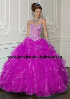 Lila Abendkleid Ballkleid Online mit Pailetten