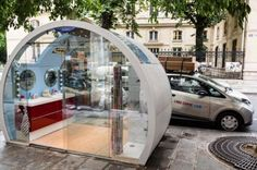 Ikea transforme des bulles Autolib en salles de bains et cuisines