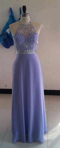 Chiffon A-Line Long Prom Dresses  540d56f9629e