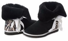 Betty Bow Black Zebra Boots, Australian Made Sheepskin #aussie #australianmade #sheepskin #boots #comfy #shoesaholic #shortboots #bow #lace #cute #mood #blackboots #blackandwhite #zebra #zebraprint #styling #fashion #outfit #fashioninspiration