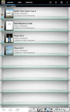 Rack2-Filer Smart For Android  Android App - playslack.com , [About Rack2-Filer Smart for Android]This application allows you to view binder data on your mobile device that is created with Rack2-Filer Smart on your computer.Binder data can also be imported into Rack2-Filer Smart for Android via cloud services (SugarSync, Dropbox).* To use this application, a computer with Rack2-Filer Smart or Magic Desktop installed is required.For Rack2-Filer, use ScanSnap Connect Application.[What You…