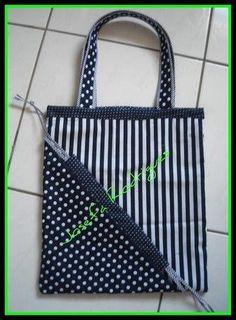 jpg] - bag making Bag Quilt, Ruffles Bag, Diy Buttons, Trash Bag, Clothes Crafts, Quilted Bag, Handmade Bags, Bag Making, Fabric Crafts