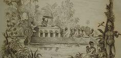 Boottocht in Suriname. Ets (19e eeuw). Verhaal van een togtje in Suriname (1823) is geschreven door een vrouw. Dat is bijzonder omdat we bijna alleen maar oude (non-fictie) teksten over Suriname kennen die door mannen zijn geschreven. Klik foto voor artikel van Carl Haarnack.
