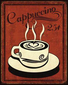 Retro Coffee III Pôsteres por N. Harbick na AllPosters.com.br