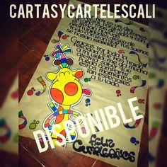 """Disponible!!!  Cali- Valle  Facebook- cartasycarteles  WhatsApp- 3205797879  """"Cartas y Carteles para  Cualquier ocasion""""  ➡#cartasycarteles"""