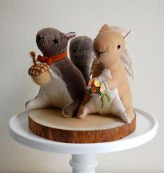 Squirrel Cake Topper. $150.00, via Etsy.  Squirrels!