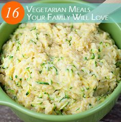 16 Vegetarian Meals the Whole Family will Love - including the kiddos!