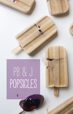 PB & J Popsicles from @acozykitchen  // www.acozykitchen.com  LOVE these!!!