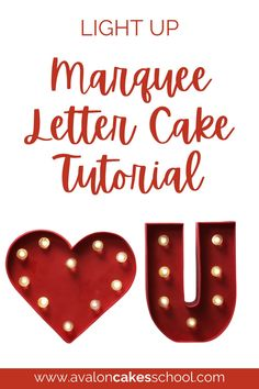 Add a special treat to your valentine's day menu this year for your home bakery business or bakery storefront. In this cake decorating tutorial, we'll show you how to make a light up marquee letter cake that is sure to impress your customers. We'll teach you how to create a cake structure that can be used with any letter and we'll even teach you how to create poured sugar light bulbs that really light up! Avalon Cakes School has hundreds of cake tutorials and cake decorating masterclasses.